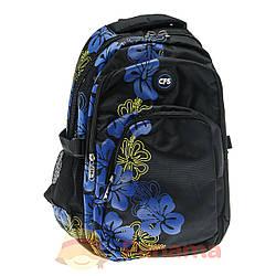 """Міський шкільний рюкзак з яскравою вставкою на фасаді CFS 16"""", """"Mallows"""" (CF85289)"""