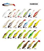 "Силиконовая приманка Relax DAIMOND SHAD 3"", цвет S001, упаковка 25 шт."