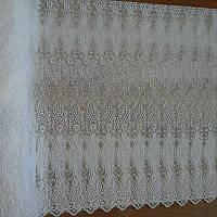 Тюль фатин белый с узором Вензель