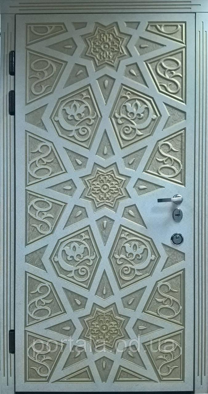 """Входная дверь для улицы """"Портала"""" (Премиум Vinorit) ― модель Агни Patina"""