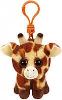 Мягкая игрушка-брелок Жираф Peaches Beanie Boo`s TY 12см (36654)
