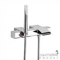 Смесители Roca Настенный термостат для ванны с регулятором переключателя потока, ручной душ Roca Thesis A5A1150C00 Хром