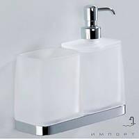 Аксессуары для ванной комнаты Colombo Design Стакан и дозатор настенные Colombo Time W4271