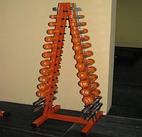 Подставка для гантелей (елка) 10 пар гантелий