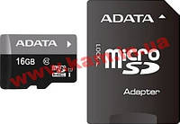 Карта памяти A-DATA microSDHC 16GB adapter class10 UHS1 (AUSDH16GUICL10-RA1)