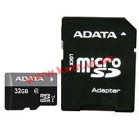 Карта памяти A-DATA microSDHC 32GB adapter class10 UHS1 (AUSDH32GUICL10-RA1)