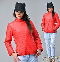 Женская модная куртка из эко-кожи, фото 1