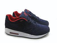 Кроссовки мужские Nike air max deluxe suede blue-white. найк делюкс, интернет сайт обуви