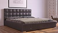 Кровать Гера в обивке с мягким изголовьем полуторная