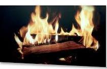 """Уденс 700 Вт металлокерамическая отопительная панель с нанесением фотопечатью """"Огонь""""  УЦЕНКА"""