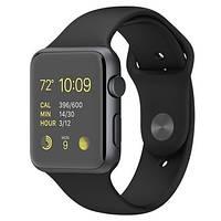 Умные часы Apple Watch Sport 42mm Space Gray Aluminum Case with Black Sport Band (MJ3T2)