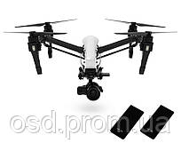 Квадрокоптер Inspire 1 RAW DJI с 1 пультом, объективом + 2 extra ssds (512gb)