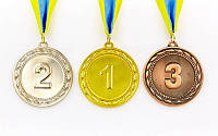 Медаль на ленте наградная  6,5 см