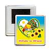 """Украинский акриловый сувенирный магнит на холодильник """"Welcome to Ukraine"""""""