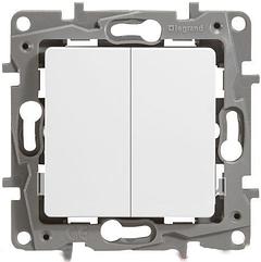 Legrand Etika Механизм выключателя 2-клавишный белый