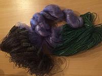 Сеть рыболовная,синяя, вшитый груз, ячейка 65