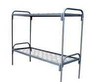 Кровать двухъярусная металлическая