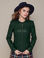 Женская Куртка с эко-кожи на замшевой основе р.42