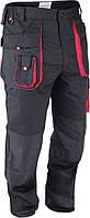 Брюки рабочие, черно-красные, размер S, YATO YT-8025.