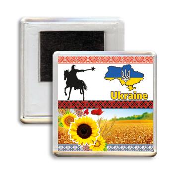 """Украинский акриловый сувенирный магнит на холодильник """"Ukraine"""""""