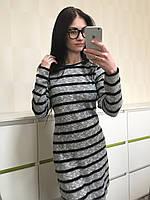 Стильное женское трикотажное платье