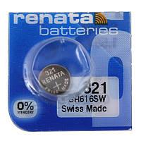 Батарейка для часов Renata 321 (SR616SW) Silver oxide таблетка часовая