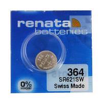 Батарейка часовая Renata 364 (SR621) Silver oxide G1 (6,8х2,1mm, 20mAh)