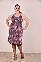 Женское платье с цветами  арт 0291-3 (42-74)