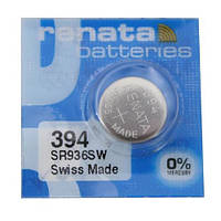 Батарейка для часов Renata 394 (SR936SW) Silver oxide таблетка часовая