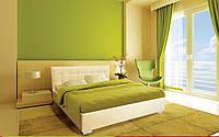 Кровать Гера с подъемным механизмом с мягким изголовьем полуторная