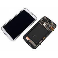 Дисплей (экраны) для Samsung i9200 Galaxy Mega 6.3, i9205 Galaxy Mega с сенсором (тачскрином) и рамкой белый
