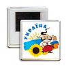 """Украинский акриловый сувенирный магнит на холодильник """"УКРАЇНА - козак"""""""