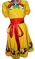 """Вишите плаття для дівчинки """"Ерсін"""" (Вышитое платье для девочки """"Ерсин"""") DR-0003"""