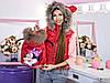 Family Look Парные жилеты Minnie с натуральным мехом , фото 5
