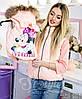 Family Look Парные жилеты Minnie с натуральным мехом , фото 6