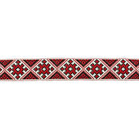 Лента арт.288 2,5 см. украинский орнамент