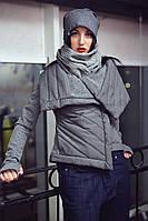 Куртка женская, серая, весна, осень, зима K-BRONX1-2