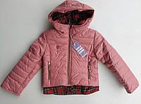 """Демисезонная куртка для девочки """"Рубашка"""" розовая"""
