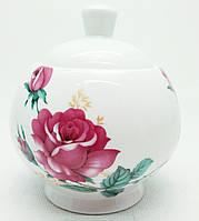 """Фарфоровая сахарница """"Роза"""", 300мл."""