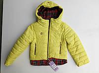 """Демисезонная куртка для девочки """"Рубашка"""" желтый"""