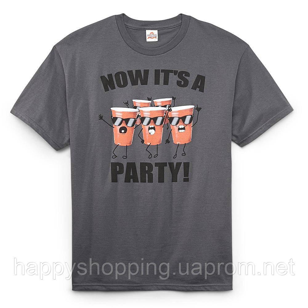"""Серая футболка """"Now it's a party"""""""
