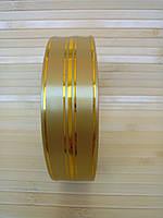 Лента для упаковки подарков 3см/50м Золото
