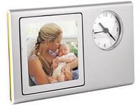 Часы с рамкой для фотографии 6х6 см