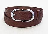 Женский коричневый кожаный пояс Louis Vuitton , фото 3