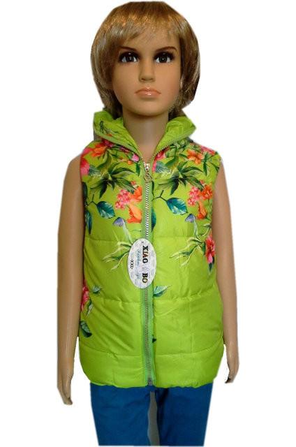 Стеганная жилетка на девочку 2 - 5 лет