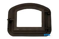 Дверца для печи со стеклом жаропрочным STK 420х335мм