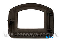 Дверцята для печі барбекю, пічна дверцята зі склом STK