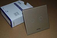 Радиоканальный сенсорный выключатель 2 линии + управление пульт ДУ Kopou (Livolo). Код: КГ570