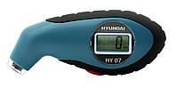 HYUNDAI манометр цифровой в пластиковом корпусе с подсветкой