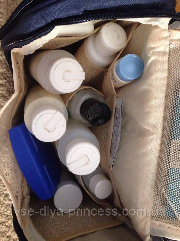 e1bc152da932 Большая дорожная косметичка органайзер несессер кейс мужская женская в  отпуск на подарок, темно-синяя ...
